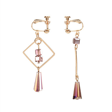 Žene Klipse neprilagođeno Long dame Korejski Moda Elegantno Naušnice Jewelry Zlato Za Party Kauzalni 1 par