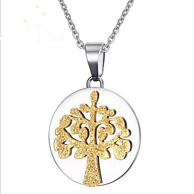 Muškarci Zlato Ogrlice s privjeskom Klasičan Stablo života životno stablo Moda nehrđajući Pink 50 cm Ogrlice Jewelry 1pc Za Party Dnevno