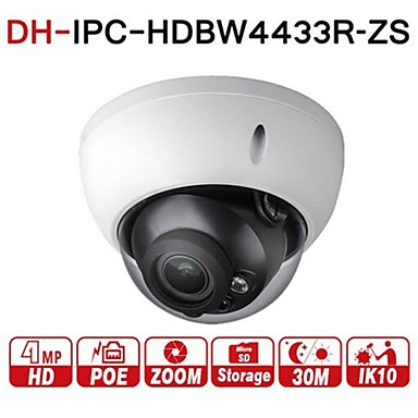 رخيصةأون كاميرات المراقبة IP-داهوا 4mp varifocal poe ip كاميرا الأمن ipc-hdbw4433r-zs 2.7 ملليمتر ~ 13.5 ملليمتر عدسة بمحركات 5x زووم بصري داخلي كاميرا فيديو المراقبة داخلي قبة ir 50 متر
