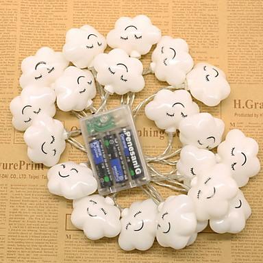 2m Žice sa svjetlima 10 LED diode Toplo bijelo Ukrasno AA baterije su pogonjene 1set