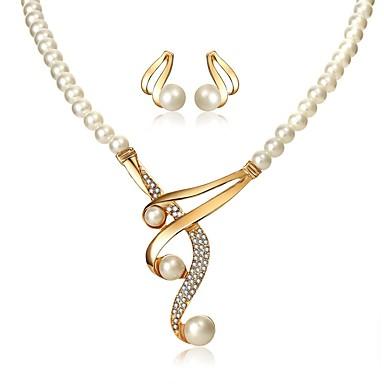 Žene Ogrlica Naušnica Klasičan dame Elegantno Imitacija bisera Naušnice Jewelry Obala Za Vjenčanje Večer stranka Maškare Zaručnička zabava Prom Obećanje