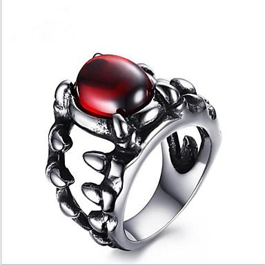 Muškarci Crvena Ruby Prsten Titanium Steel Moda Modno prstenje Jewelry Pink Za Party Dnevno 8 / 9 / 10 / 11 / 12