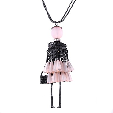 Žene Duga ogrlica Perlice dame Lutaka Lolita Smola Legura Pink Crvena Pink 69 cm Ogrlice Jewelry 1pc Za Dar Dnevno