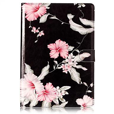 رخيصةأون أغطية أيباد-غطاء من أجل Apple ايباد ميني 5 / iPad New Air (2019) / iPad Air حامل البطاقات / مع حامل / قلب غطاء كامل للجسم زهور قاسي جلد PU / iPad Pro 10.5 / iPad (2017)