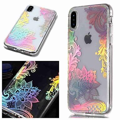Θήκη Za Apple iPhone XS / iPhone XR / iPhone XS Max IMD / Prozirno / Uzorak Stražnja maska Cvijet Mekano TPU