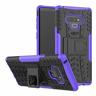 Недорогие Чехлы и кейсы для Galaxy Note-Кейс для Назначение SSamsung Galaxy Note 9 со стендом Кейс на заднюю панель броня Твердый ПК