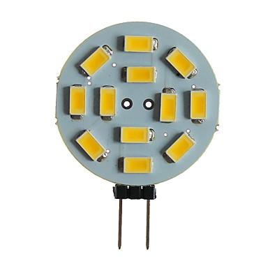 SENCART 1pc 5 W LED svjetla s dvije iglice 360 lm G4 MR11 T 12 LED zrnca SMD 5630 Ukrasno Toplo bijelo Bijela 12 V