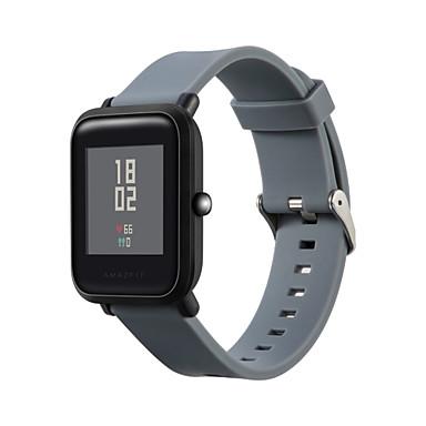 voordelige Smartwatch-accessoires-Horlogeband voor Huami Amazfit Bip Younth Watch Xiaomi Moderne gesp Silicone Polsband
