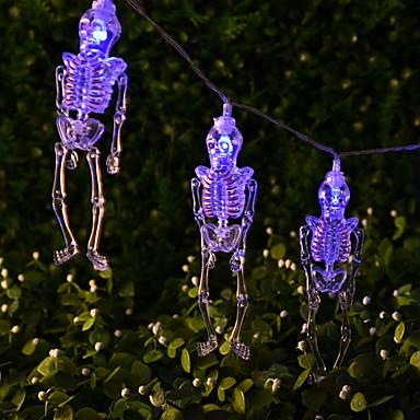 HKV 1.5m Žice sa svjetlima 10 LED diode Hladno bijelo / Plavo / Zeleno Kreativan / Party / smiješno AA baterije su pogonjene 1pc