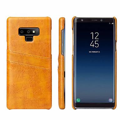 voordelige Galaxy Note-serie hoesjes / covers-hoesje Voor Samsung Galaxy Note 9 Kaarthouder Achterkant Effen Hard aitoa nahkaa