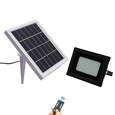 1pc 5 W LED reflektori Vodootporno / Daljinski upravljano / Sunce Hladno bijelo 3.7 V Vanjska rasvjeta / Dvorište / Vrt 54 LED zrnca / Zatamnjen