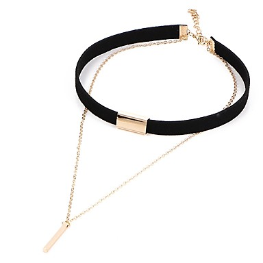 Žene Choker oglice Klasičan dame Lutaka Lolita PU Legura Crn Braon 31.5+7.5 cm Ogrlice Jewelry 1pc Za Dnevno Festival