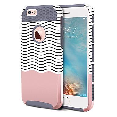 voordelige iPhone-hoesjes-hoesje Voor Apple iPhone 6s Plus / iPhone 6s / iPhone 6 Plus Schokbestendig / Patroon Achterkant Lijnen / golven Hard TPU / PC