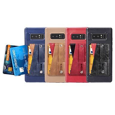 Недорогие Чехлы и кейсы для Galaxy Note-Кейс для Назначение SSamsung Galaxy Note 9 / Note 8 Бумажник для карт / со стендом / Кольца-держатели Кейс на заднюю панель Однотонный Мягкий Кожа PU / Ультратонкий