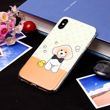 voordelige iPhone X hoesjes-hoesje Voor Apple iPhone XS / iPhone XR / iPhone XS Max IMD / Doorzichtig Achterkant Hond Zacht TPU
