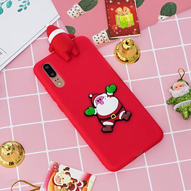 voordelige Hoesjes / covers voor Huawei-hoesje Voor Huawei Huawei P20 / Huawei P20 Pro / Huawei P20 lite Patroon Achterkant Kerstmis Zacht TPU / P10 Lite / P10