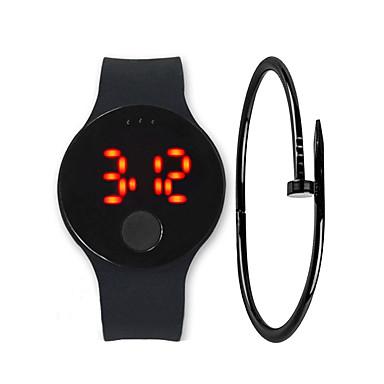 Muškarci digitalni sat Šiljci za meso Silikon Crna / Bijela / Plava 30 m Vodootpornost LCD Šiljci za meso Ležerne prilike Moda - Bijela Crvena Plava