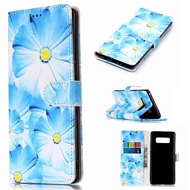 Θήκη Za Samsung Galaxy Note 9 / Note 8 Novčanik / Utor za kartice / sa stalkom Korice Cvijet Tvrdo PU koža
