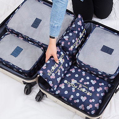povoljno Putne torbe-Putna torba Organizator putovanja Velika zapremnina Prijenosno Izdržljivost Net Najlon Za Putovanje Prtljaga Odjeća