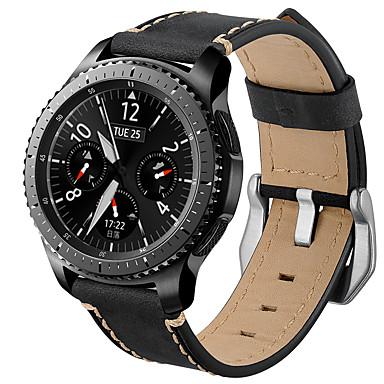 Pogledajte Band za Gear S3 Classic Samsung Galaxy Moderna kopča Prava koža Traka za ruku