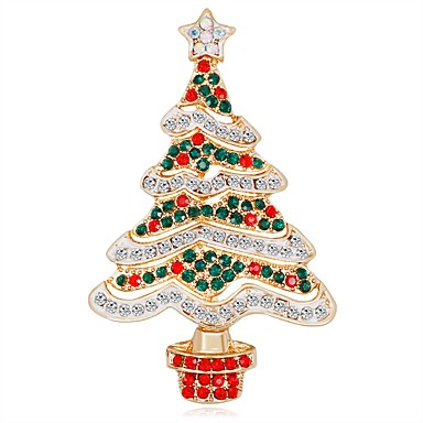 3d Christmas Tree.4 99 Women S Brooches 3d Christmas Tree Ladies Unique Design Classic Rhinestone Brooch Jewelry Rainbow For Christmas New Year