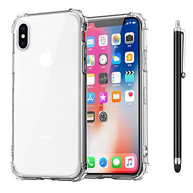 Недорогие Кейсы для iPhone 6-Кейс для Назначение Apple iPhone XS / iPhone XR / iPhone XS Max Защита от удара / Прозрачный Кейс на заднюю панель Однотонный Мягкий ТПУ