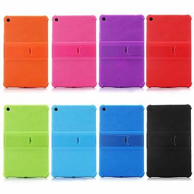 Недорогие Чехлы и кейсы для Xiaomi-Кейс для Назначение Xiaomi Xiaomi Tab 4 Plus Защита от удара / со стендом Кейс на заднюю панель Однотонный Мягкий Силикон