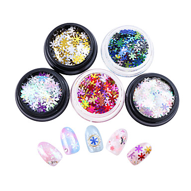 5 pcs Najbolja kvaliteta Eko-friendly materijal Šljokice Za Kreativan nail art Manikura Pedikura Dnevno Moda