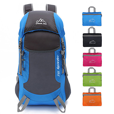 35 L Ruksaci Lagani pakirajući ruksak Mala težina Otporno na kišu Pad 3D Ultra Light (UL) Vanjski Pješačenje Plaža Kampiranje Poliester Fuksija Zelen Plava / Da / Kompaktan / Otpornost na habanje