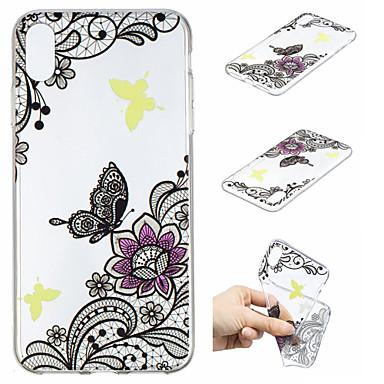 Θήκη Za Apple iPhone XS / iPhone XS Max Uzorak Stražnja maska Rukav leptir / Cvijet Mekano TPU za iPhone XS / iPhone XR / iPhone XS Max