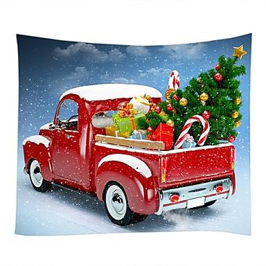 クリスマス / 家族 壁の装飾 ポリエステル100% 近代の ウォールアート, タペストリー 装飾