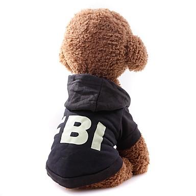Psi Mačke Kaputi Sportska majica Odjeća za psa Crn Crvena Kostim Mops (Pug) bišon friz Šnaucer Tekstil Jednobojni Simple Style Casual / sportski S M L XL