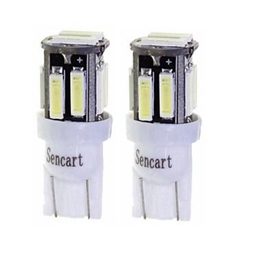 Недорогие Фары для мотоциклов-SENCART 2pcs T10 / BA9S Мотоцикл / Автомобиль Лампы 3 W SMD 7020 160 lm 10 Светодиодная лампа Лампа поворотного сигнала / Мотоцикл / Внутреннее освещение Назначение