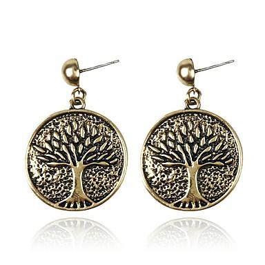 Žene Viseće naušnice Vintage Style Marcasite Stablo života životno stablo dame Vintage 18K pozlaćeni Naušnice Jewelry Light Gold Za Ulica 1 par