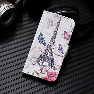 Недорогие Кейсы для iPhone 7-Кейс для Назначение Apple iPhone XS / iPhone XR / iPhone XS Max Кошелек / Бумажник для карт / со стендом Чехол Пейзаж / Эйфелева башня Твердый Кожа PU