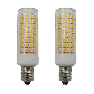 5w e12 vodio svjetla za žvakanje 102 leda 2835 smd za kućnu rasvjetu ventilatora luster 220-240v toplo / hladno bijelo (2 kom)