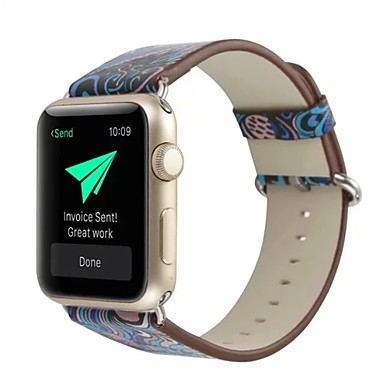 prava koža / Poli uretanska Pogledajte Band Remen za Apple Watch Series 4/3/2/1 Plava 23 cm / 9 inča 2.1cm / 0.83 Palac