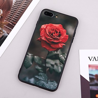voordelige iPhone-hoesjes-hoesje Voor Apple iPhone X / iPhone 8 Plus / iPhone 8 Patroon Achterkant Bloem Hard TPU