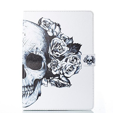 رخيصةأون أغطية أيباد-غطاء من أجل Apple ايباد ميني 5 / iPad New Air (2019) / iPad Air حامل البطاقات / مع حامل / قلب غطاء كامل للجسم جماجم / زهور قاسي جلد PU / iPad Pro 10.5 / iPad (2017)