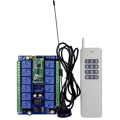 Χαμηλού Κόστους Ρελέ-12-48v αμφίδρομο τηλεχειριστήριο 12 κατευθύνσεων για απομακρυσμένο ασύρματο τηλεχειριστήριο
