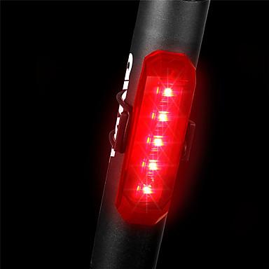 LED Svjetla za bicikle Stražnje svjetlo za bicikl sigurnosna svjetla Kaciga Stražnja svjetla Brdski biciklizam Bicikl Biciklizam Vodootporno Višestruka načina Quick Release Mala težina Litij-ionska