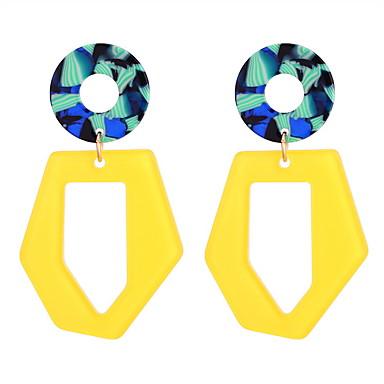 Žene Viseće naušnice Geometrijski dame Stilski Jednostavan Jedinstven dizajn Naušnice Jewelry Obala / Bijela Za Party Kauzalni 1 par