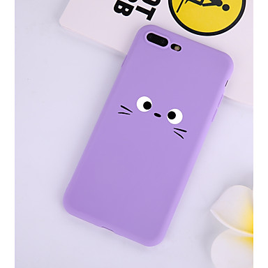 voordelige iPhone X hoesjes-hoesje Voor Apple iPhone XS / iPhone X / iPhone 8 Plus Patroon Achterkant Cartoon Zacht TPU
