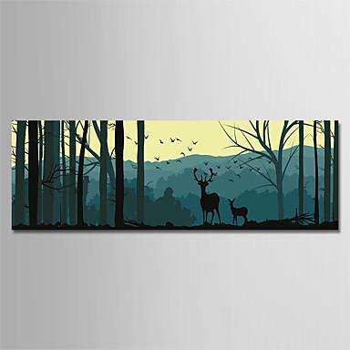Print Rolled Canvas Prints - Botanički Crtani film Moderna Umjetničke grafike