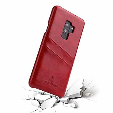 voordelige Galaxy S-serie hoesjes / covers-hoesje Voor Samsung Galaxy S9 / S9 Plus Kaarthouder Achterkant Effen Hard aitoa nahkaa