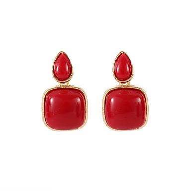 Žene Sitne naušnice Retro dame Vintage Korejski Smola Naušnice Jewelry Lila-roza Za Nova Godina 1 par