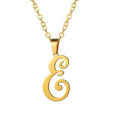 Žene Ogrlice s privjeskom Ime Alphabet Shape dame Moda Tikovina Zlato Crn Pink 55 cm Ogrlice Jewelry 1pc Za Dar Dnevno