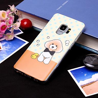 Недорогие Чехлы и кейсы для Galaxy S6 Edge-Кейс для Назначение SSamsung Galaxy S9 / S9 Plus / S8 Plus IMD / С узором Кейс на заднюю панель С собакой Мягкий ТПУ