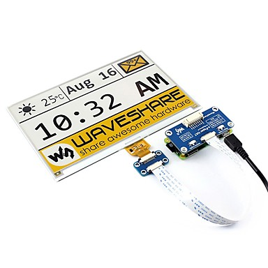 cheap Raspberry Pi-Waveshare  7.5inch e-Paper HAT(C)  640x384  7.5inch E-Ink display HAT for Raspberry Pi  yellow/black/white three-color