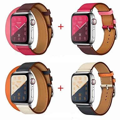 Недорогие Аксессуары для смарт-часов-Ремешок для часов для Серия Apple Watch 5/4/3/2/1 Apple Кожаный ремешок Натуральная кожа Повязка на запястье